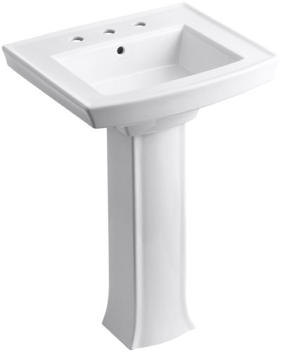 Why Choose Kohler K-2359-8-0 Archer Pedestal Lavatory with 8-Inch Centers, White