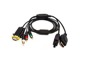 Wii/PS3 VGA HDTV AV Cable