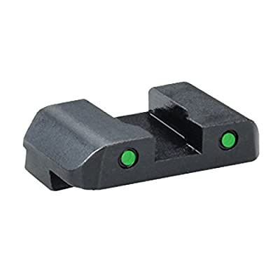 "Ultimate Arms Gear GL-227R Glock 17,19,22,23,24,26,27,33,34,35,37,38,39 Pro Tritium Rear Sight Tritium Outline Two Dot Pro REAR Sight .256"" H .180"" Notch from Ultimate Arms Gear"