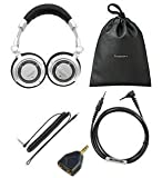 Technics RPDH1250 Classic Professional Headphones for DJ Monitoring (RP-DH1200+ iPhone Lead) As well as ability to connect to iPhone with mic and Vol includes full accessory