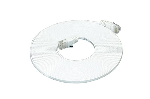 Optimus Electric 25 Feet Cat6 Ultra Flat Cable With Smooth Jacket - White