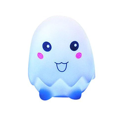 Zjskin 1 Piece Cute Colorful Flash Egg LED Night Light - 1