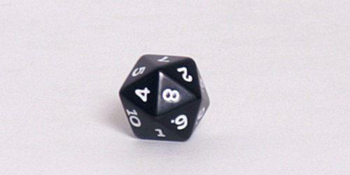 Opaque 16mm d20 Dice,