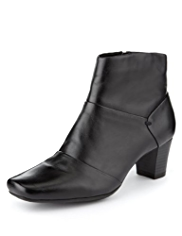 M&S Collection Leather Panelled Ankle Boots with Insolia®