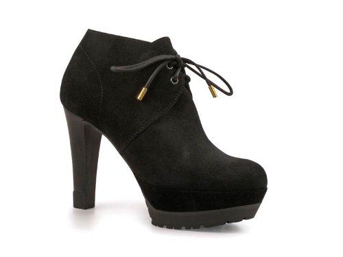 Stivaletti alla caviglia Sergio Rossi donna in pelle Scamosciato nero - Codice modello: A45161 MCRJ02 1000 - Taglia: 41 IT