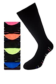7 Pairs of Freshfeet™ Cotton Rich Striped Sole Socks