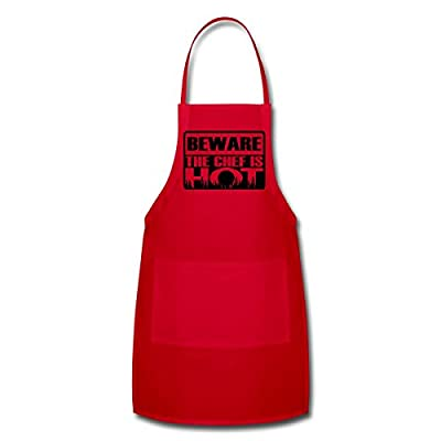 Spreadshirt Unisex Adult Beware the chef is hot Apron