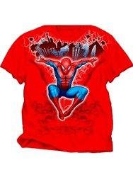 Spider-Man Marvel Skyline Youth Child's Red T-shirt