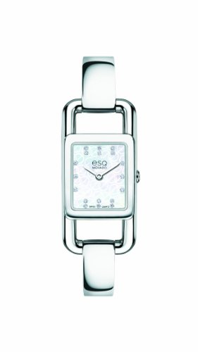 ESQ Movado Women's 07101406 esq Angle tm Mother-Of-Pearl Rectangular Signature Watch