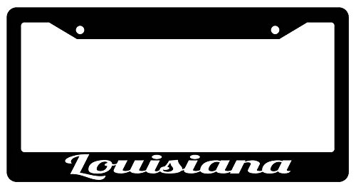 Louisiana High Quality Black Plastic License Plate Frame (Louisiana License Plate Frame compare prices)