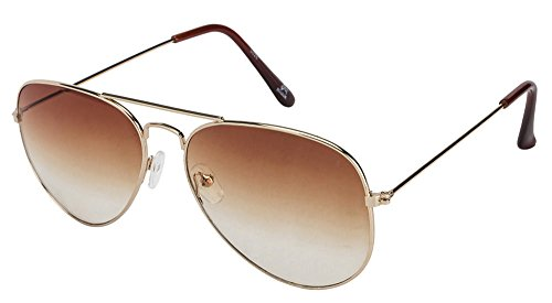 MASK 3026/N Golden Brown Brown Gradient Aviator Sunglasses (110095)