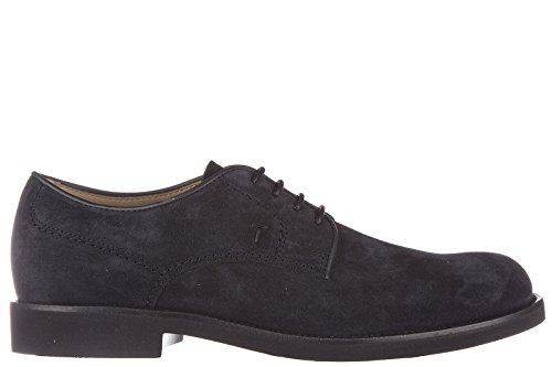 Tod's scarpe stringate classiche uomo in camoscio derby gomma light blu EU 41 XXM0WP00C20RE0U805