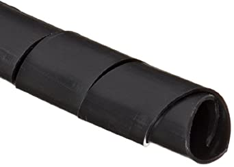 """Morris Products 22117 Spiral Wrap, Uv Black, 0.79 - 5.12"""" Bundle Range, 33ft Length"""