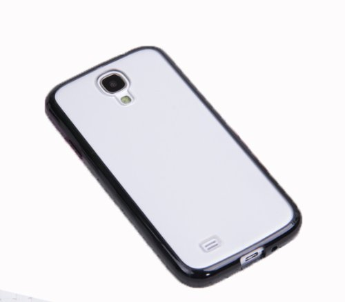 Pc + TPU Hybrid Bumper Case for Samsung Galaxy S4 Iv I9500 Black