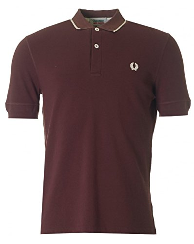 fred-perry-x-nigel-cabourn-training-pique-polo-red-medium