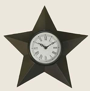 Rustic Star Clock