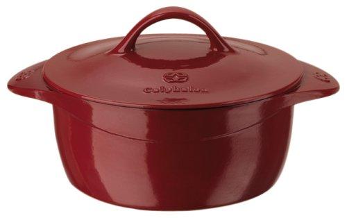 Calphalon Enamel Cast Iron 5 Quart Dutch Oven, Cabernet Red