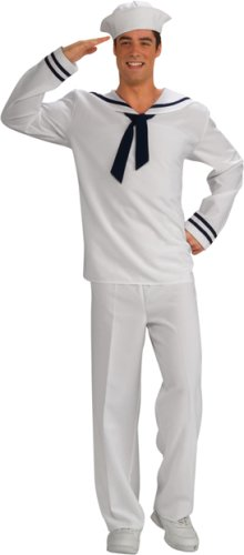 Adult Men's White Sailor Uniform Halloween Costume