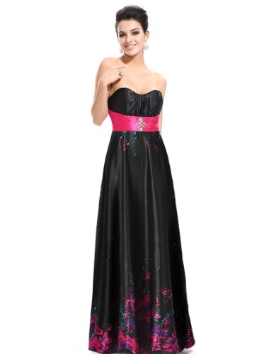 HE09467HP10, Printed(Hot Pink), 8US, Ever Pretty Maxi Dress For Ladies 09467