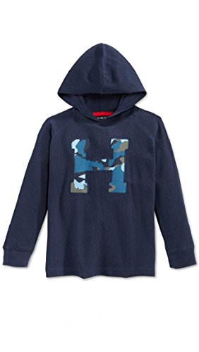 Tommy Hilfiger Little Boys Camo H Thermal Hoodie - Size 3t - Blue (Ralph Lauren Thermal Hoodie compare prices)