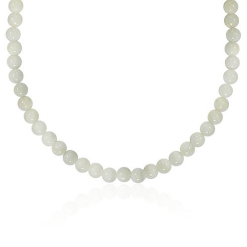 6mm Round Mother-Of-Pearl Bead Necklace, 22+2