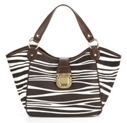 Michael Kors Charlton Tribal Zebra Large Cotton Tote