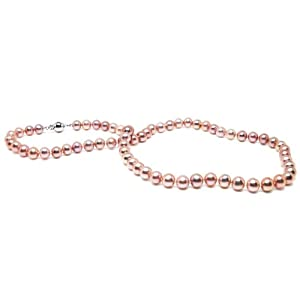 {Gold Box Deal} HinsonGayle AAA Handpicked 6.5-7.0mm Naturally Pink Cultured Pearl Necklace (Sterling Silver) {{{GET A FREE NECKLACE WITH COUPON AND $200 ORDER, SEE DETAILS BELOW}}}