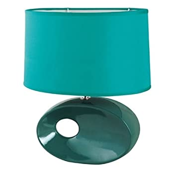 Cleo Ceramic Table Lamp Finish: Teal