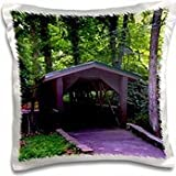 WhiteOak Photography Nature Scenes - A Covered Bridge - 16x16 inch Pillow Case