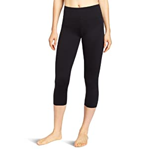 Flexees by Maidenform Women's Fat Free Dressing Legging, Black, Large