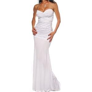 Long Prom Dress on White Strapless Long Evening Formal Dress   Prom Dresses  Prom