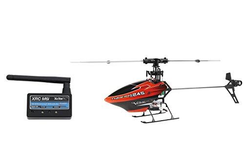 14001120 Ferngesteuerter RC Hubschrauber Flybarless 245 3D RTF 2.4 GHz mit M6i 6 Kanal Sendermodul FHSS, rot/schwarz