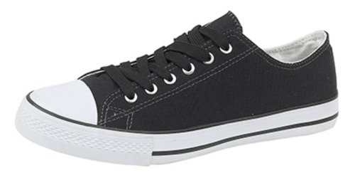 Mens Womens Ladies Unisex Lace Up Toe Cap Canvas Plimsolls Pumps Navy
