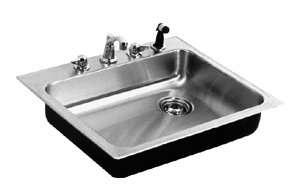Just Single Bowl Dishwasher, GE Group Topmount Stainless Steel Sink, SBW-1919-A-GR-R (Without Tappings)