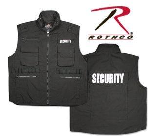 Black Security Law Enforcement Ranger Vest, Size Large