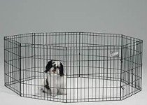 Midwest Black E-Coat Exercise Pen, 24 Inches by 30 Inches