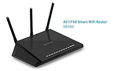 NETGEAR AC1750 Smart Wi-Fi Router, 802.11ac Dual Band Gigabit (R6400-100NAS)