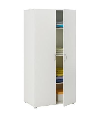 13 Casa  Armadio Cousteau 9 Bianco 166,6x80,4x51,5 cm
