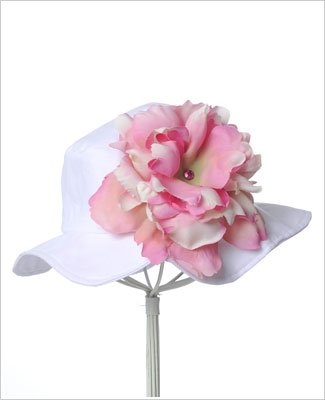 ~ Jamie Rae White Peony Sun Hat *Many Peony Colors!* Toddler (12m/2T) White