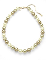 M&S Collection Pearl Effect Ombre Collar Necklace