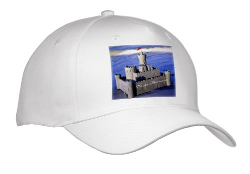 Florene - Childrens Art Iii - Image Of Sand Castle With Pirates Beware - Caps - Adult Baseball Cap front-1042019