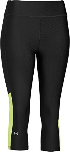 Under Armour Pantalonni da Fitness da Donna, Colore Nero (Black/Teal), Taglia S