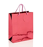 Pink Metallic Medium Gift Bag