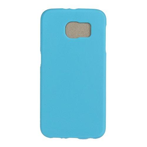 Ecoway copertura / coperture / insiemi di telefono / shell protettivi apparecchi telefonici mobili Custodia TPU silicone Crystal per Samsung Galaxy S6, case cover protettivo disegno speciale, colori vivaci Ultra Morbido di TPU Silicone - blu