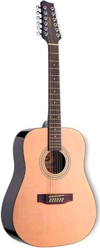 Stagg Sw205-12n Acoustic Guitar Spruce Catalpa 12 String Natural