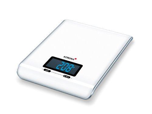 Korona 2050187 Katja Balance de Cuisine Électronique en Blanc