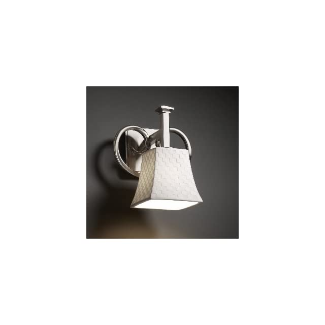 Justice Design POR 8581 10 PLET ABRS Heritage One Light Wall Sconce, Impression Option Pleats Shade Impression, Choose Finish Antique Brass Finish, Choose Lamping Option Standard Lamping