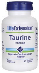 Life Extension,Taurine, 1000 mg, 90 vegetarian capsules by Life Extension (1000 Mg Taurine compare prices)