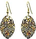 """2.3"""" L Brass Tiffany Daffodil Earring"""