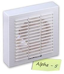 Amaryllis Bathroom Exhaust Fan 5 Inch ALPHA-5 White/Ivory